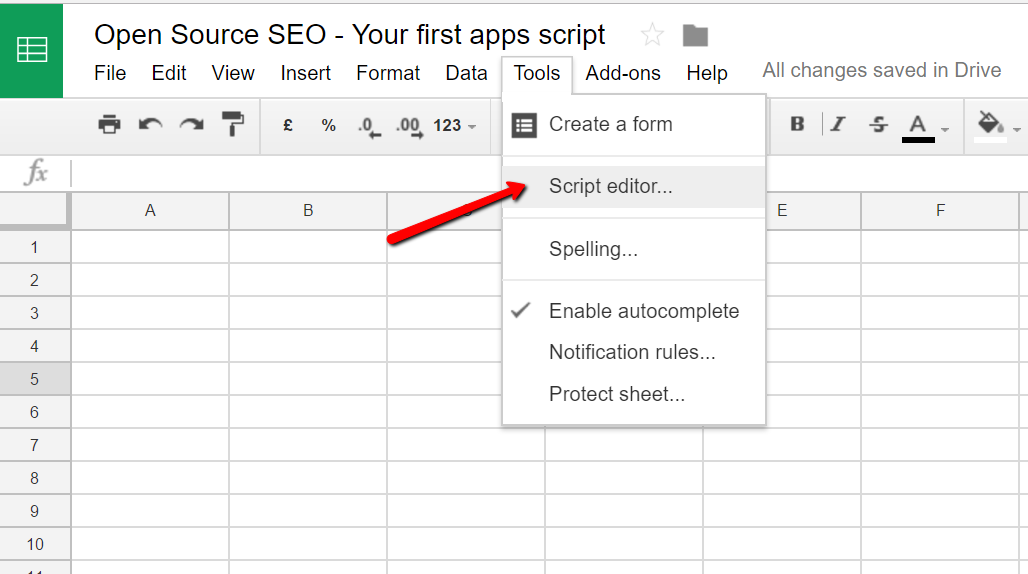 Introduction to Google Apps Scripts - Open Source SEO